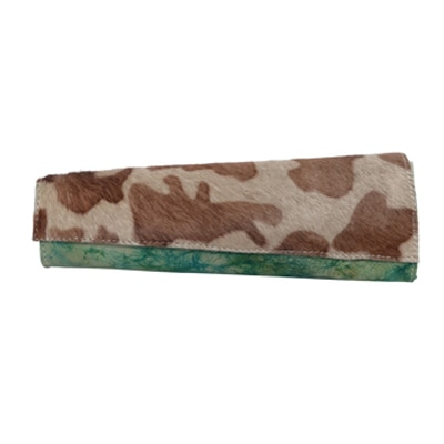 Kern Brown And Green Clutch