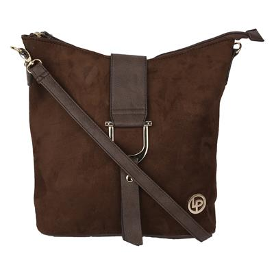 LINO PERROS Brown Color Sling Bag