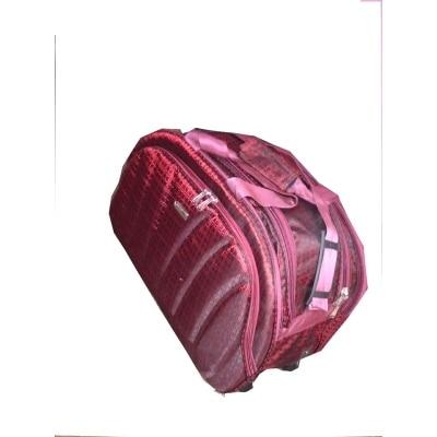 Luggage bag checks type maroon with wheels 3 packs