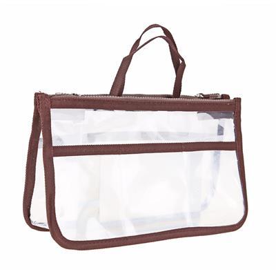 Multifunction Travel Cosmetic Makeup Bag Waterproof Toiletry Bag (Coffee) # International Bazaar