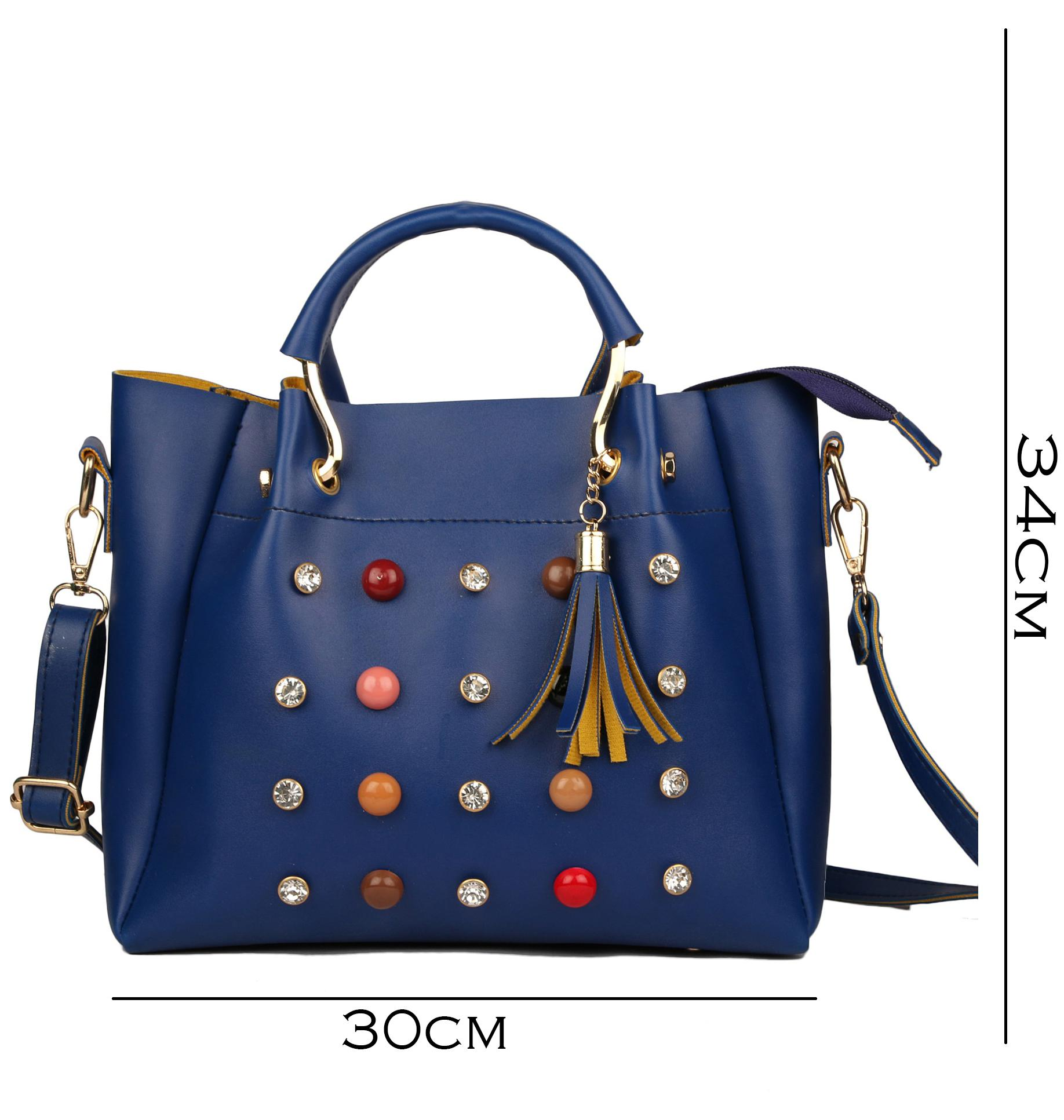 Roseberries Women Handbag Navy Blue Color