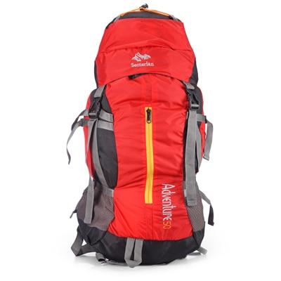 Senterlan Red And Black Nylon Travel Bag