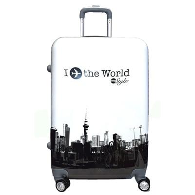 Texas Usa 20 Inch 4 Wheel Designer Printed Trolley Bag