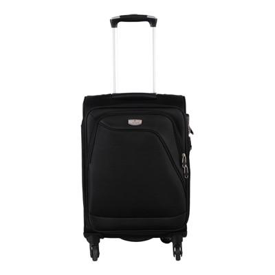 VERAGE Dublin 1301 Black Light Weight Medium 4 Wheel Trolley Luggage