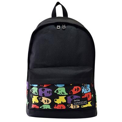 Womens Men Casual Backpack Girl School Fashion Shoulder Bag(4) # International Bazaar