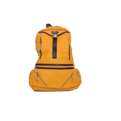 "Yellow Color 20.5"" 2 Colors PU Leather Unisex Laptop / Travel Backpack"
