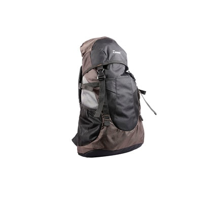 Zwart Brown Polyester Rucksack Bag