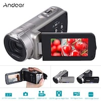 Andoer HDV-312P 1080P Full HD Digital Video Camera Portable Home-use DV with 6.85 cm (2.7 Inch) Rotating LCD Screen Max. 20 Mega Pixels 16 Digital Zoom