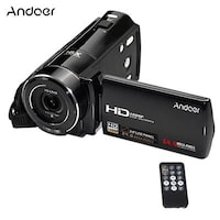 Andoer HDV-V7 1080P Full HD Digital Video Camera Camcorder Max. 24 Mega Pixels 16 Digital Zoom with 3.0 Rotatable LCD Screen Support Face Detection