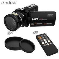Andoer HDV-Z20 Portable 1080P Full HD Digital Video Camera with 37mm 0.45 Wide Angle Lens Max 24 Mega Pixels 16 Digital Zoom Camcorder 3.0 Rotatable LCD Touchscreen with Remote Control
