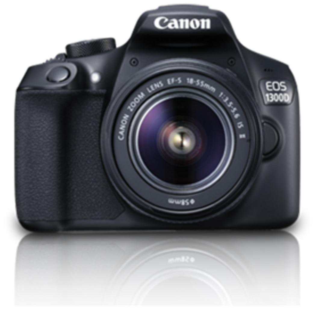 Canon EOS 1300D Kit (EF S18-55 IS II) 18 MP DSLR Camera (Black)