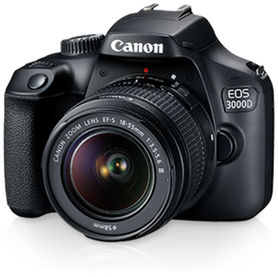 Canon EOS 3000D Kit (EF S18-55 IS II) 18 MP DSLR Camera (Black)