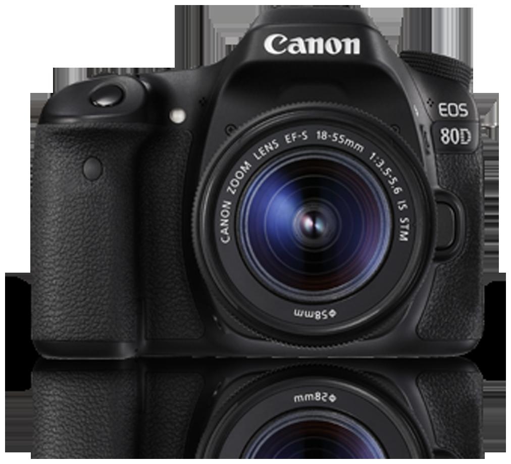 Canon EOS 80D Kit (EF-S18-55 IS STM) 24.2 MP DSLR Camera (Black)
