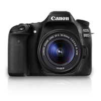 Canon EOS 80D (EF-S18-55 IS STM) 24.2 MP DSLR Camera (Black)