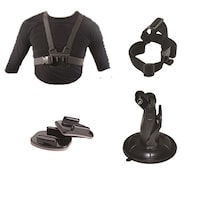 ClickPro Oculus Plus Helmet Strap with Shoulder Strap & Neck Strap, Suction and Base Mount Combo