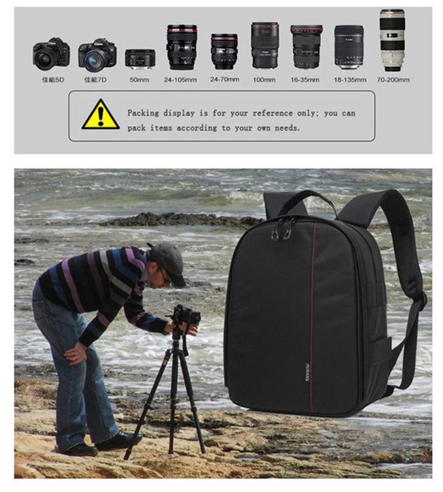 Fashion Outdoor Digital Camera Bag Waterproof Scatch-resistant Double-shoulder DSLR Photography Bag Camera Bag Camera Backpack Camera Backpack Bag