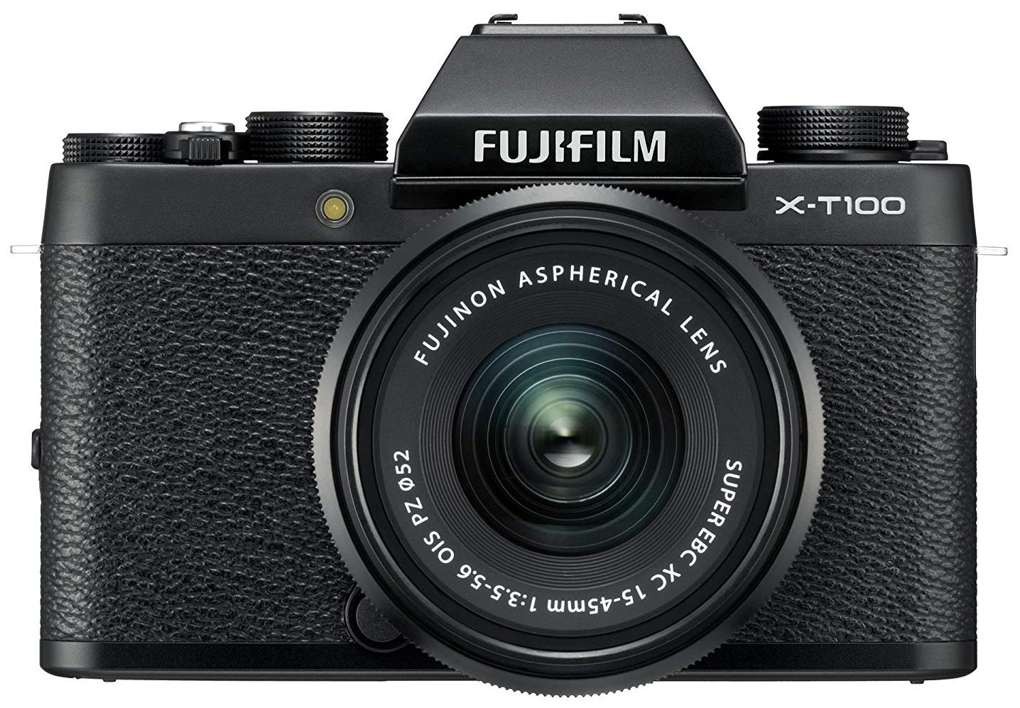 Fujifilm X-T100 (with XC 15-45 mm Lens) 24.2 MP Mirrorless Camera (Black)