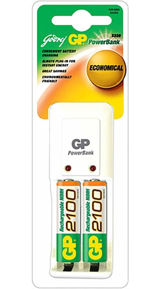 Godrej-GP-PB-3302-ROHS-Battery-Charger-(With-2-Pcs-GP-2100-mAh-AA-Batteries)-(White)
