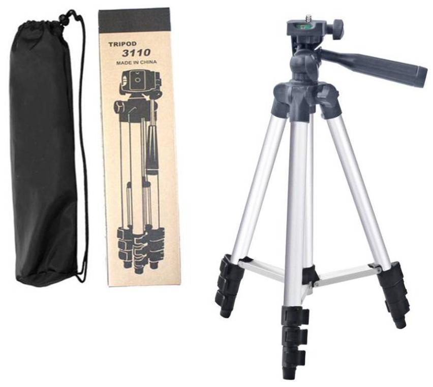 JMO27Deals Tripod - 3110 Portable & Foldable Camera - Mobile Tripod With Mobile Clip Holder Bracket, Fully Flexible Mount Cum Tripod