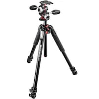 Manfrotto MK055XPRO3 Tripod (With X-PRO 3 Way Head) (Black)