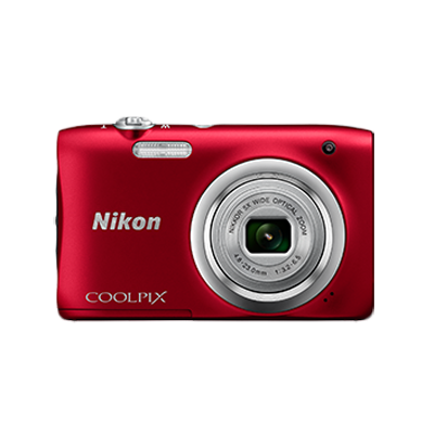 Nikon Coolpix A100 20.1 MP Point & Shoot Camera + Carry Case...