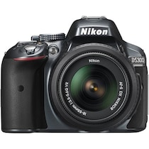 Nikon D5300 (with AF-S 18-55 mm VR Lens) 24.1 MP DSLR Camera (Grey) + FREE Nikon DSLR Bag + 8GB Memory Card