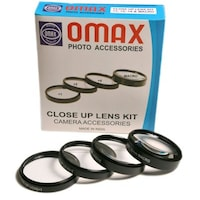 Omax 58mm Closeup Lens Kit for Canon EF-S 18-55mm, 55-250mm EOS 1200D 700D 600D 550D 500D 450D 400D 350D 300D 1100D