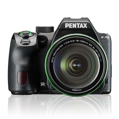 Ricoh Pentax K-70 24.24 MP Weather-Sealed DSLR Camera with 18-135 mm Lens (Black)