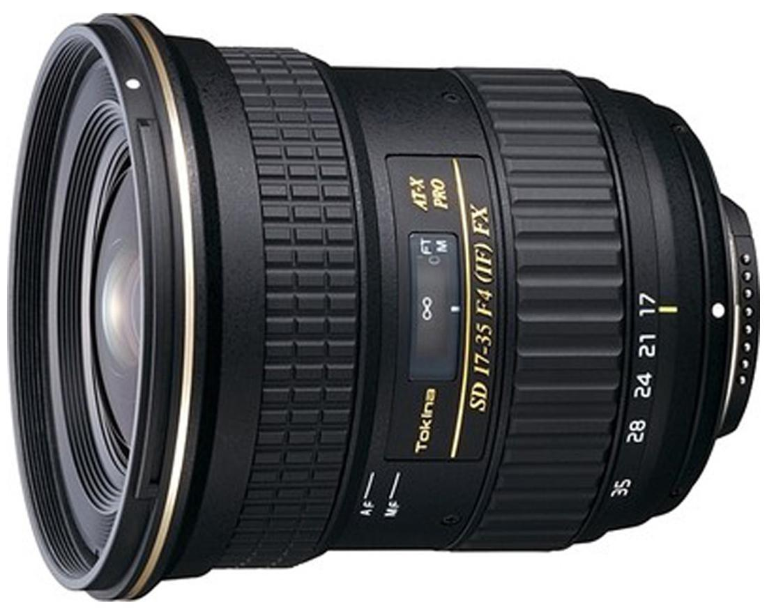 Tokina AF 17 - 35 mm F/4 PRO FX For Nikon Digital SLR Lens (Black)
