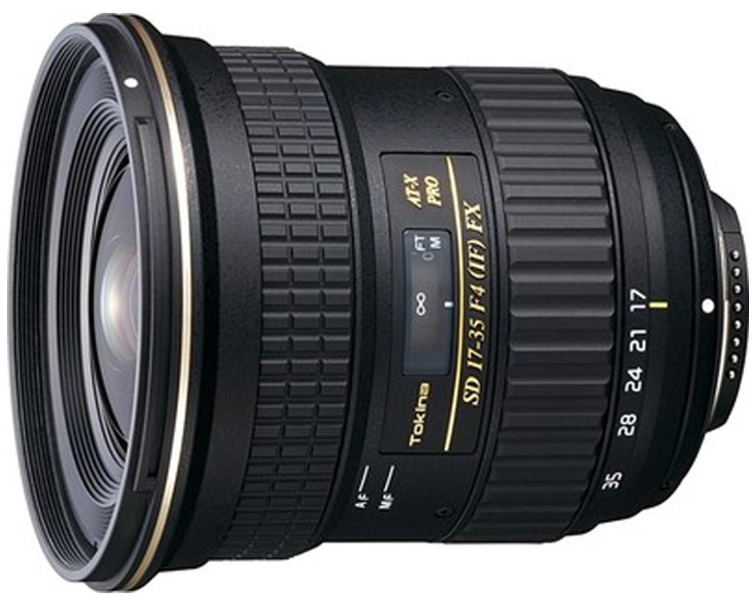 Tokina AF 17 - 35 mm F/4 PRO FX Lens (Black) For Canon Digital SLR Camera