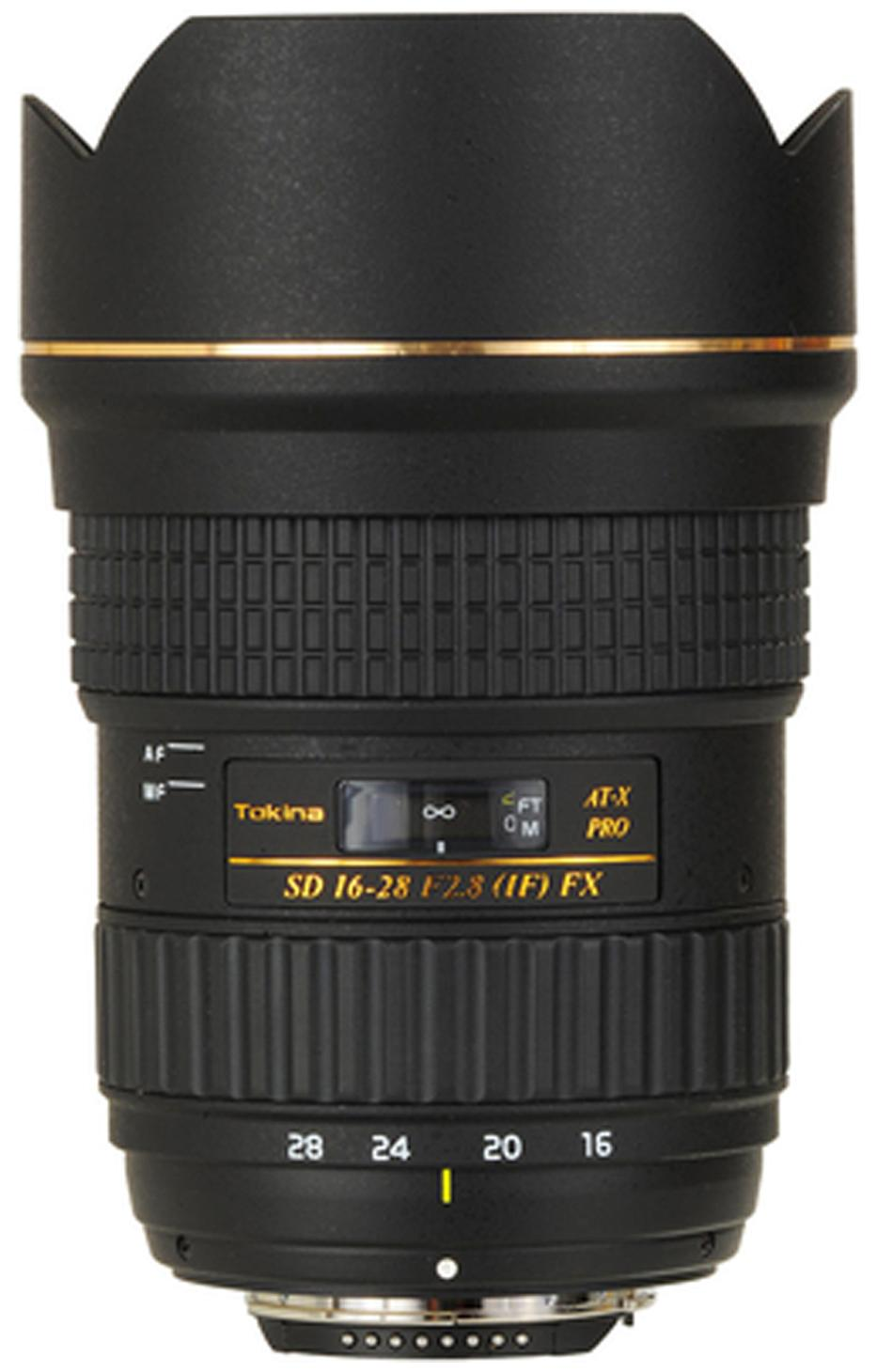 Tokina AT-X 16 - 28 mm F2.8 PRO FX Lens (Black) For Nikon Digital SLR Camera