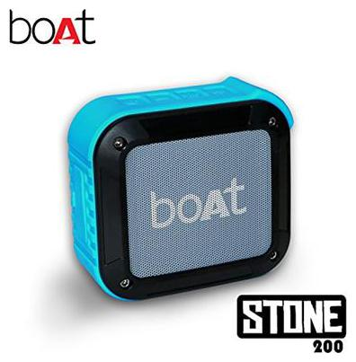 boAt Stone 200 Water and Shock Resistant Wireless Portable Speakers (Blue)