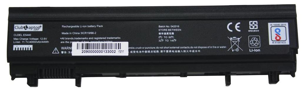 Clublaptop Replacement Battery For Dell N5YH9 Black 6 Cell 11.1V 4000 MAH Laptop Battery