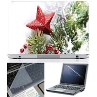 FineArts Christmas 1742 Laptop Skin For 15.6 Inch Laptop With Key Guard & Screen Protector