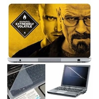FineArts Extremely Volatile Laptop Skin For 15.6 Inch Laptop With Key Guard & Screen Protector