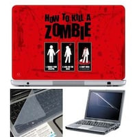FineArts How To Kill Zombie Laptop Skin For 15.6 Inch Laptop With Key Guard & Screen Protector