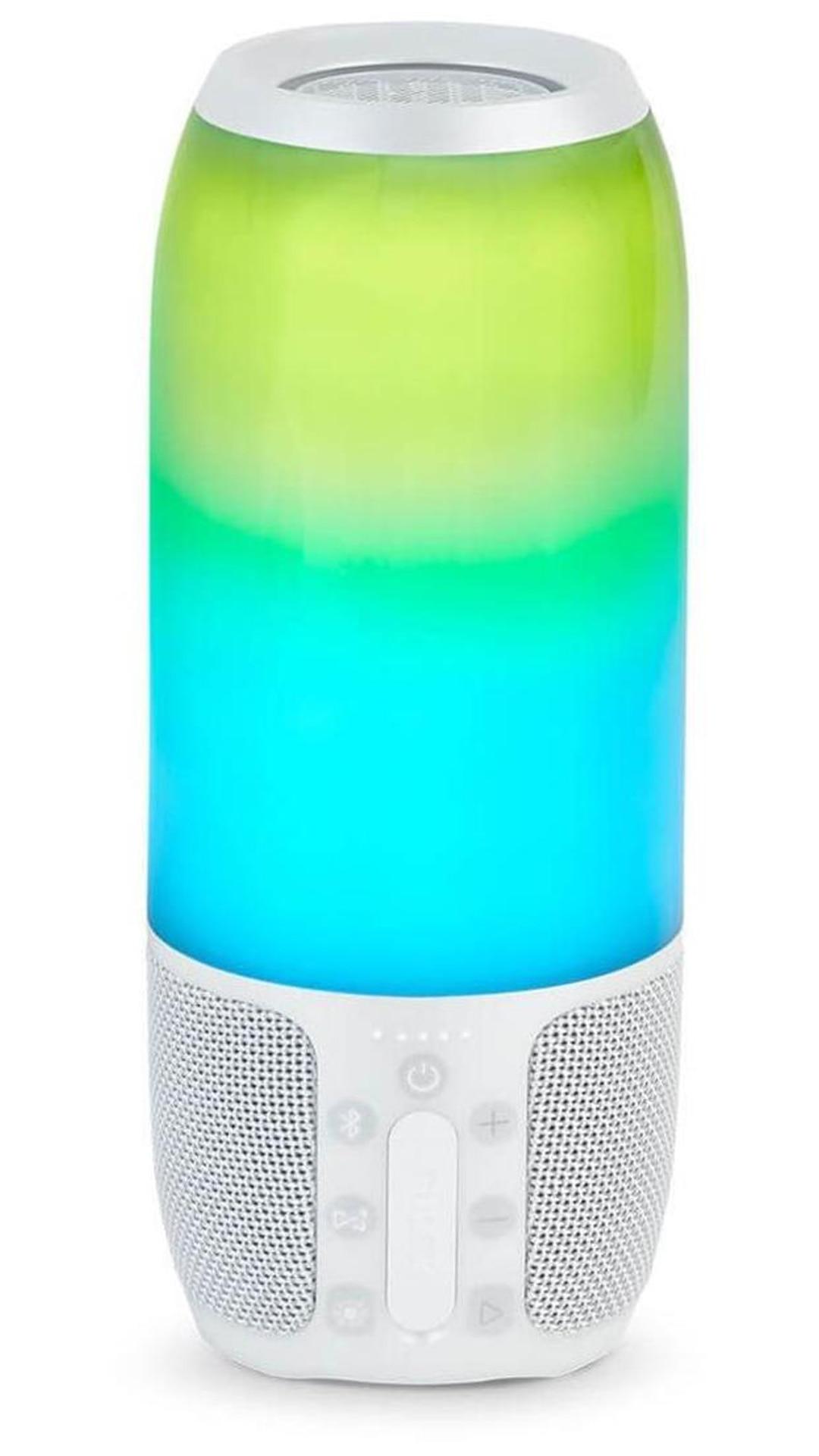 JBL Pulse 3 Wireless Bluetooth IPX7 Waterproof Speaker (White)