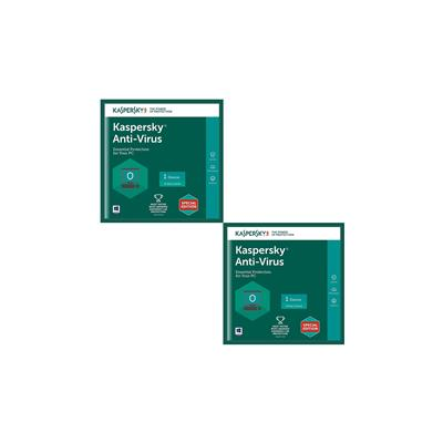 Kaspersky Antivirus Software 2017 New Slim Pack 2pc 1year(2cd,2 Serial Numbers Everykeys 365 Days Valid Free 2 Cd Covers For Safe The Cds From Scratch)