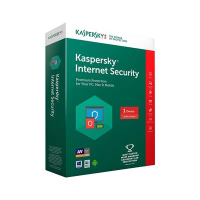 Kaspersky Internet Security 2017 1Pc 3Year (1cd,1095 Days Valid Serial key And Free Plastic Cd Cover For Safe the cds From Scratch)