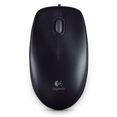 Logitech M100r USB (Wired) Optical Mouse (Black)