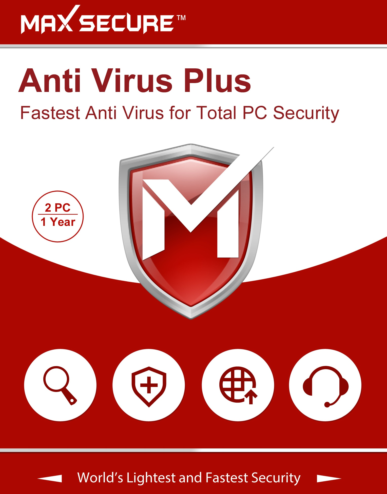 Max Secure Anti Virus 2 Pc 1 Year