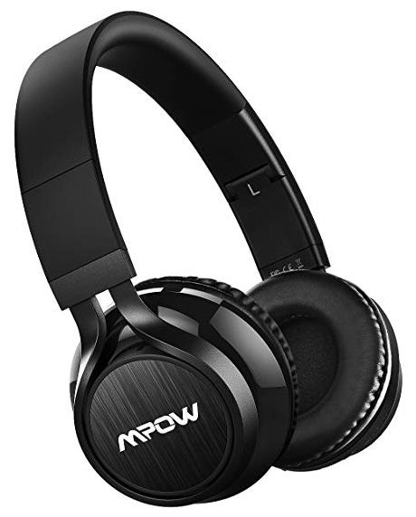 Mpow Thor Bluetooth Wireless Headphones Stereo Headphone with Soft Protein Ear Pads and Mic (Black)