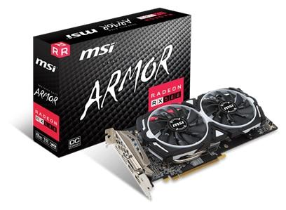 MSI ATI Radeon RX 580 ARMOR 8 GB Graphics Card