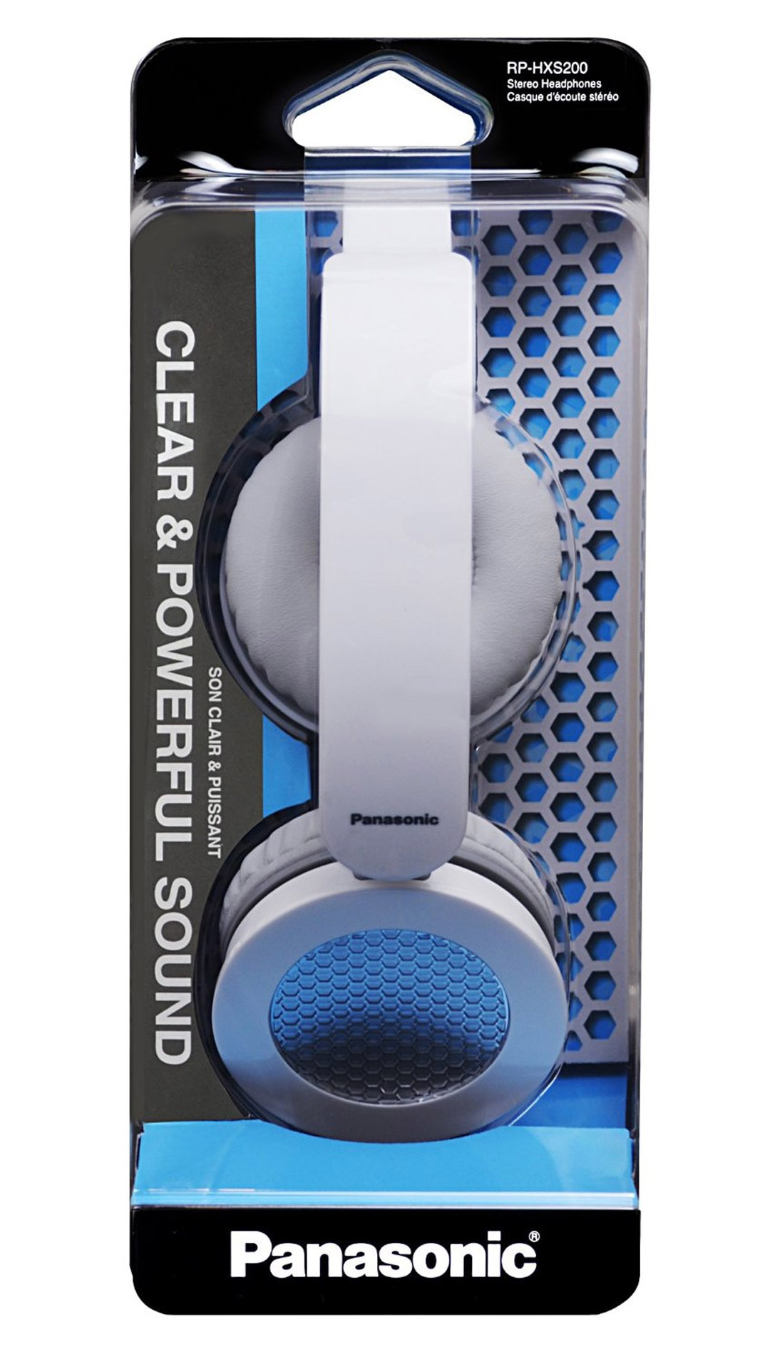 Panasonic RP-HXS200E-W Wired Over Ear Headphone (White)