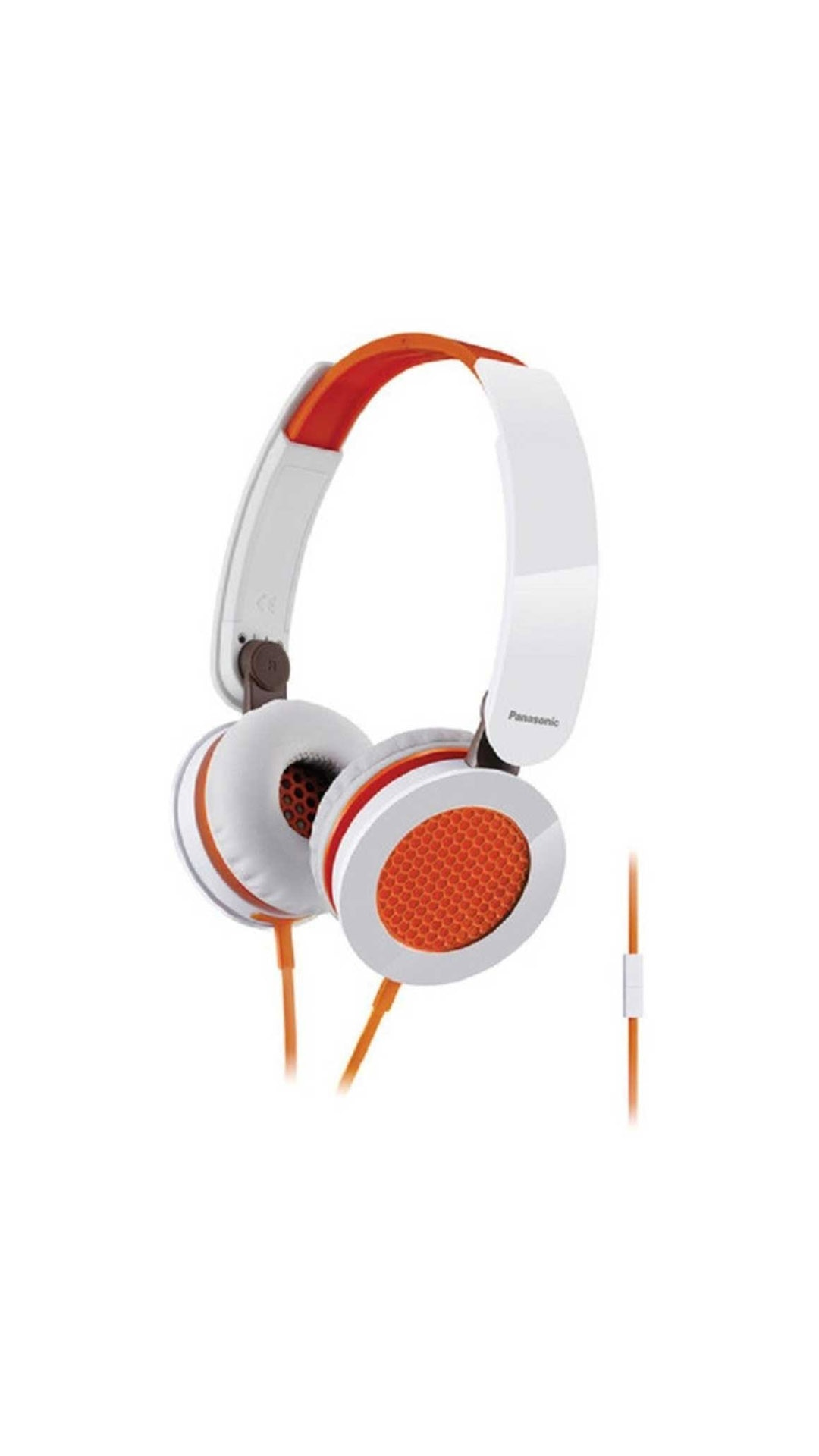 Panasonic RP-HXS200ME-D Wired Over Ear Headphone (Orange & White)