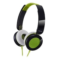 Panasonic RP-HXS200E-G Wired Over Ear Headphone (Green & Black)