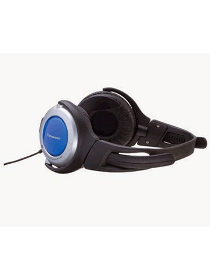 Panasonic RP-HG20 On Ear Wired Headset (Black & Blue)