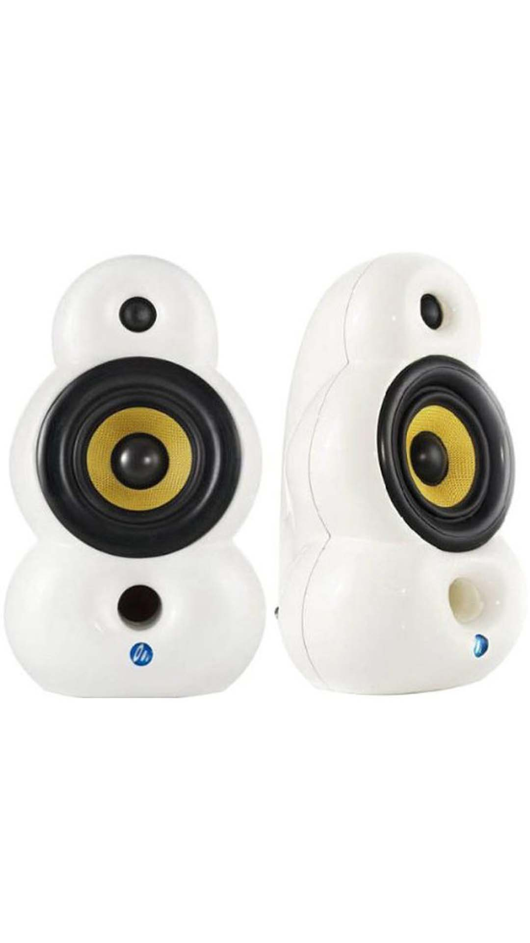 Podspeakers SmallPod HiFi Home Audio Speaker (White)