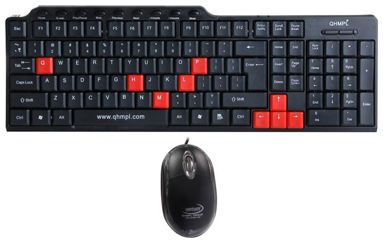 Quantum QHM8810 Multimedia Keyboard And Mouse Combo (Black)