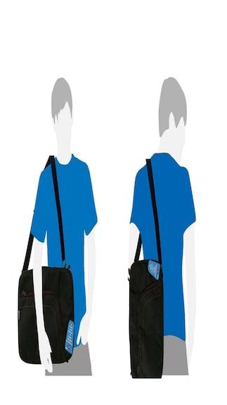 Saco-superfit-slim-convertible-bag-for-Lenovo-Essential-G510-(59-398411)Laptop-15.6-inch-(-Black-)(Black)